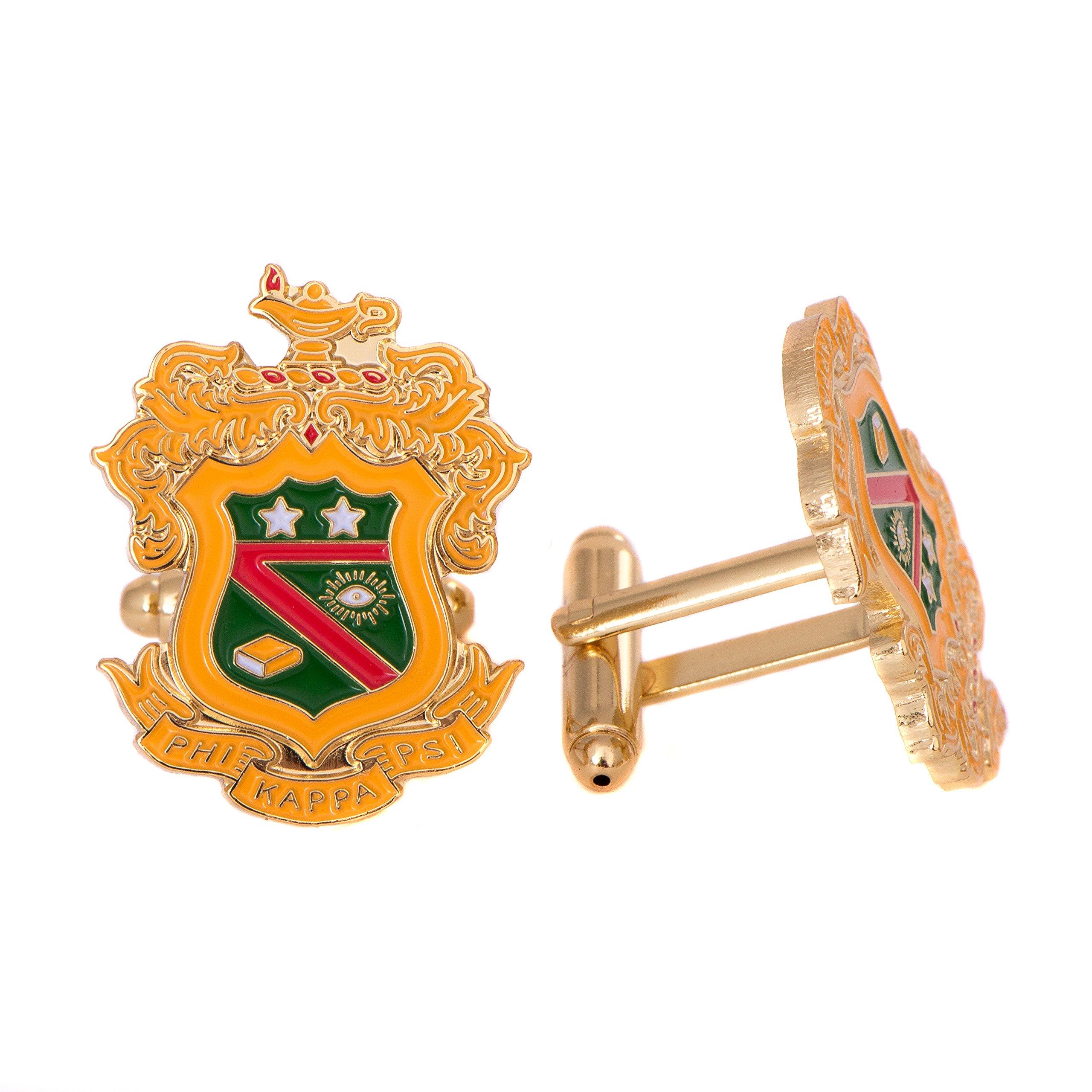 Desert Cactus Phi Kappa Psi Fraternity Crest Cufflinks Greek Formal Wear Blazer Jacket