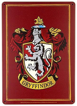 Harry Potter Tin Sign Gryffindor 21 x 15 cm Half Moon Targhe Metallo