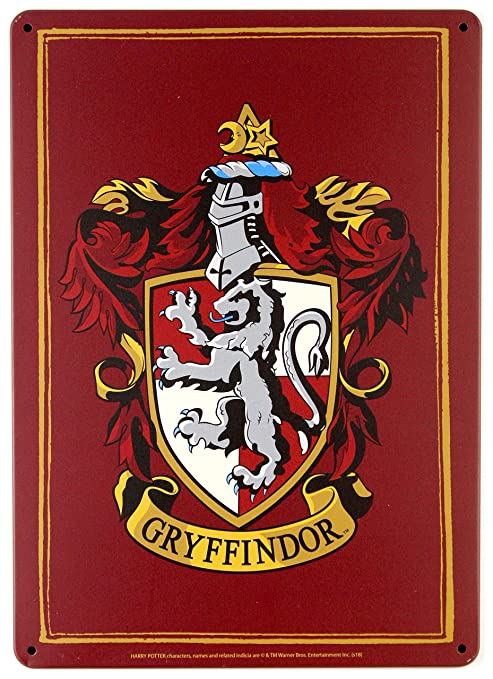 Amazon.com: Harry Potter – Letrero pequeño con escudo de ...