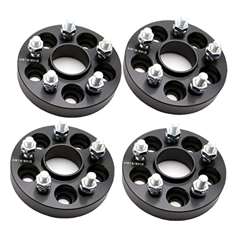 ZY-025BK 5 espaciadores de rueda 4 piezas 2,5 x 100 a 5