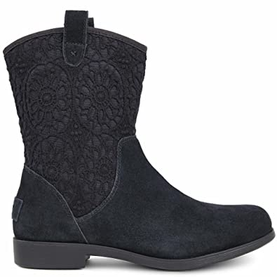 UGG Kids Girl's Dahlia Lace (Little Kid/Big Kid) Black Boot 1 Little