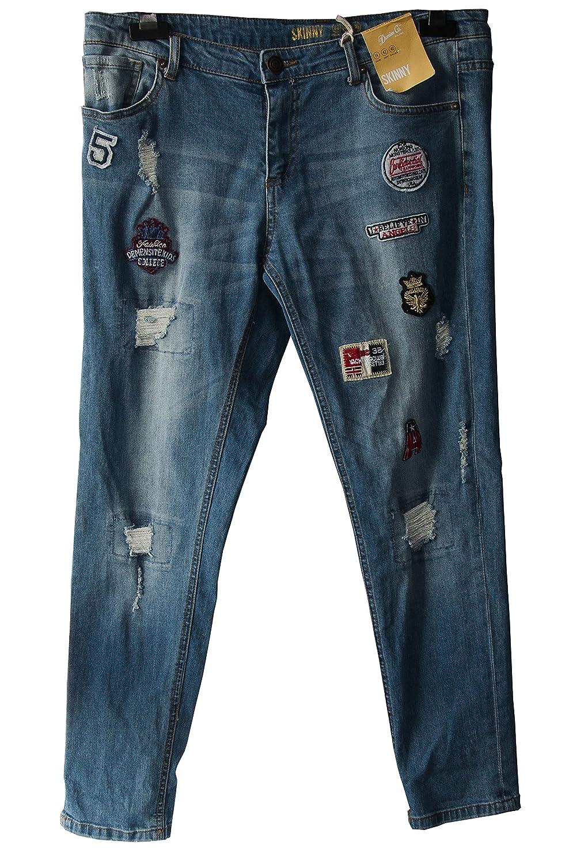 atmosphere Primark Badge Skinny Jeans: Amazon.es: Ropa y ...