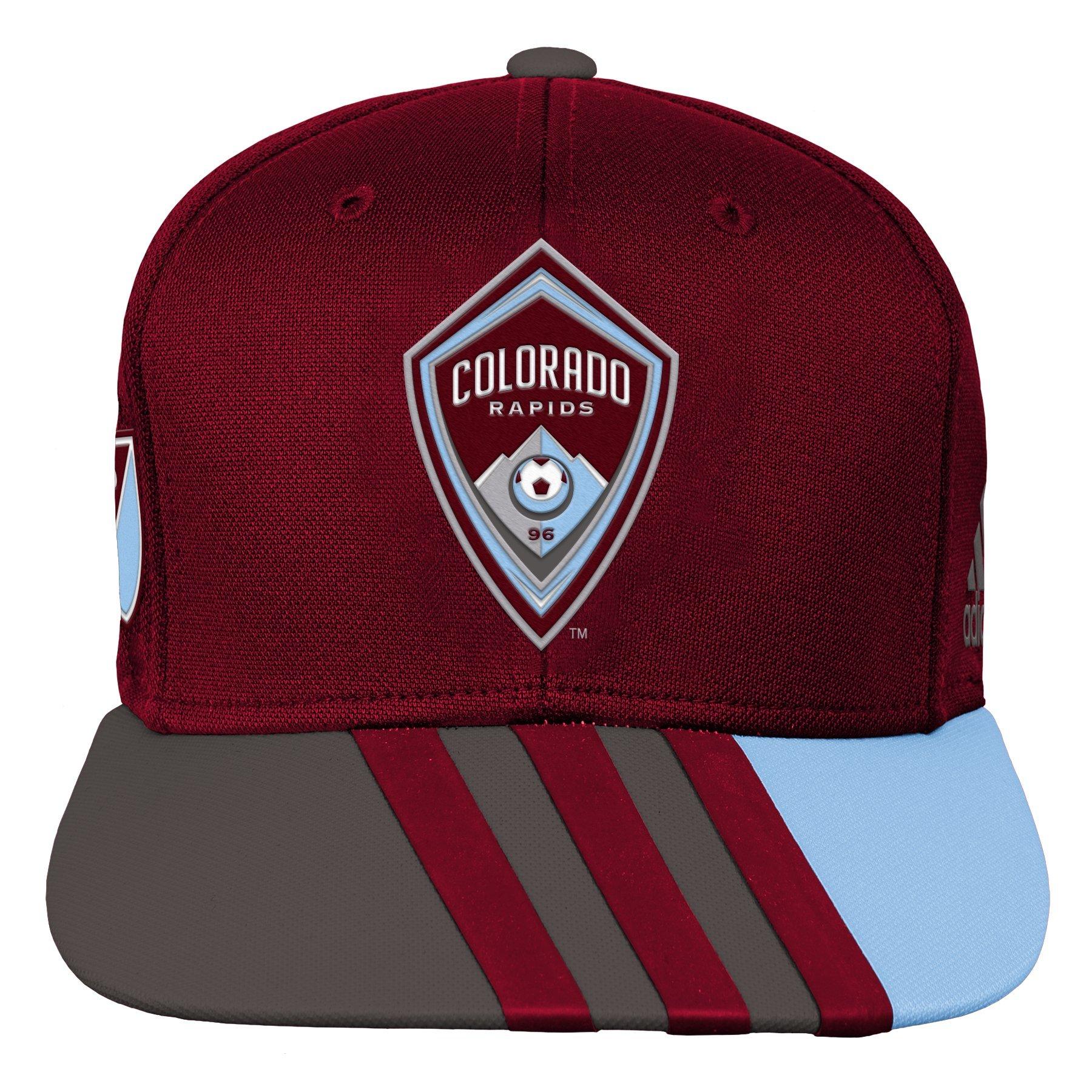 Outerstuff MLS Colorado Rapids R S8FMK Youth Boys Flatbrim Snapback, One Size (8), Burgundy
