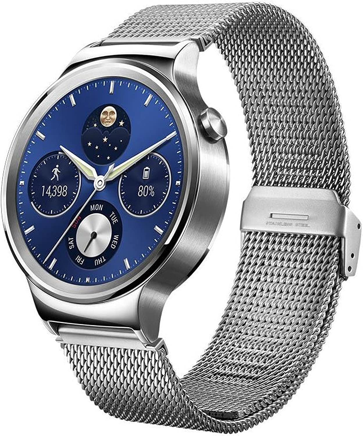 Huawei Watch Stainless Steel with Stainless Steel Mesh Band (US Warranty)