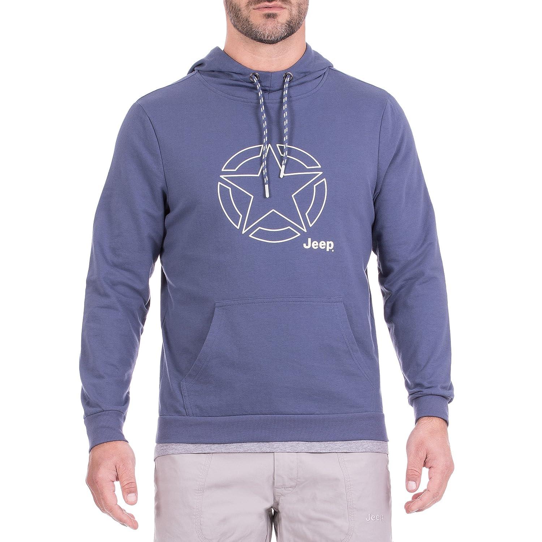 Jeep Leichter Hoodie, Sweater mit Großer Kapuze Star Outline Js8 Baumwolle Hooded Herren