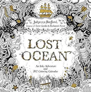 Lost Ocean 2017 Wall Calendar An Inky Adventure And Coloring