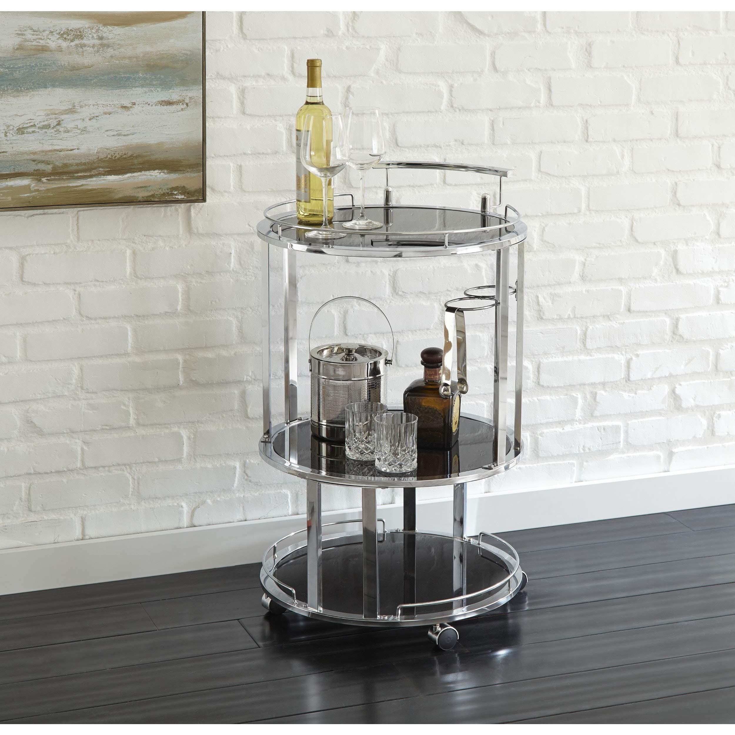Greyson Living Odessa Round Server Cart by by Greyson Living