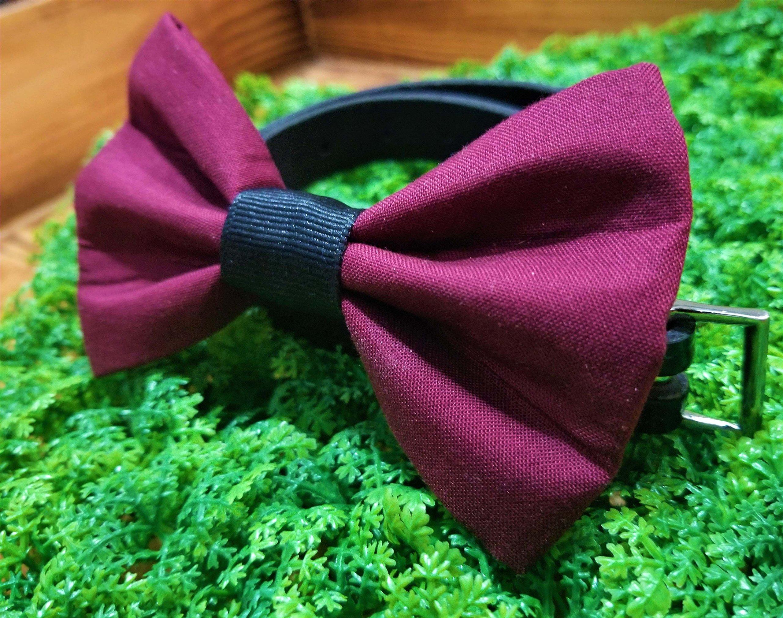 Maroon Wine Burgundy Pet Bow Tie