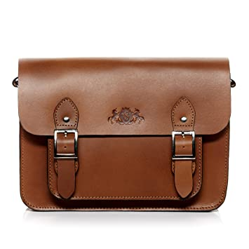 SID & VAIN® Schultertasche TESSA - Damen Umhängetasche groß Ledertasche  iPad Messenger Damentasche echt Leder