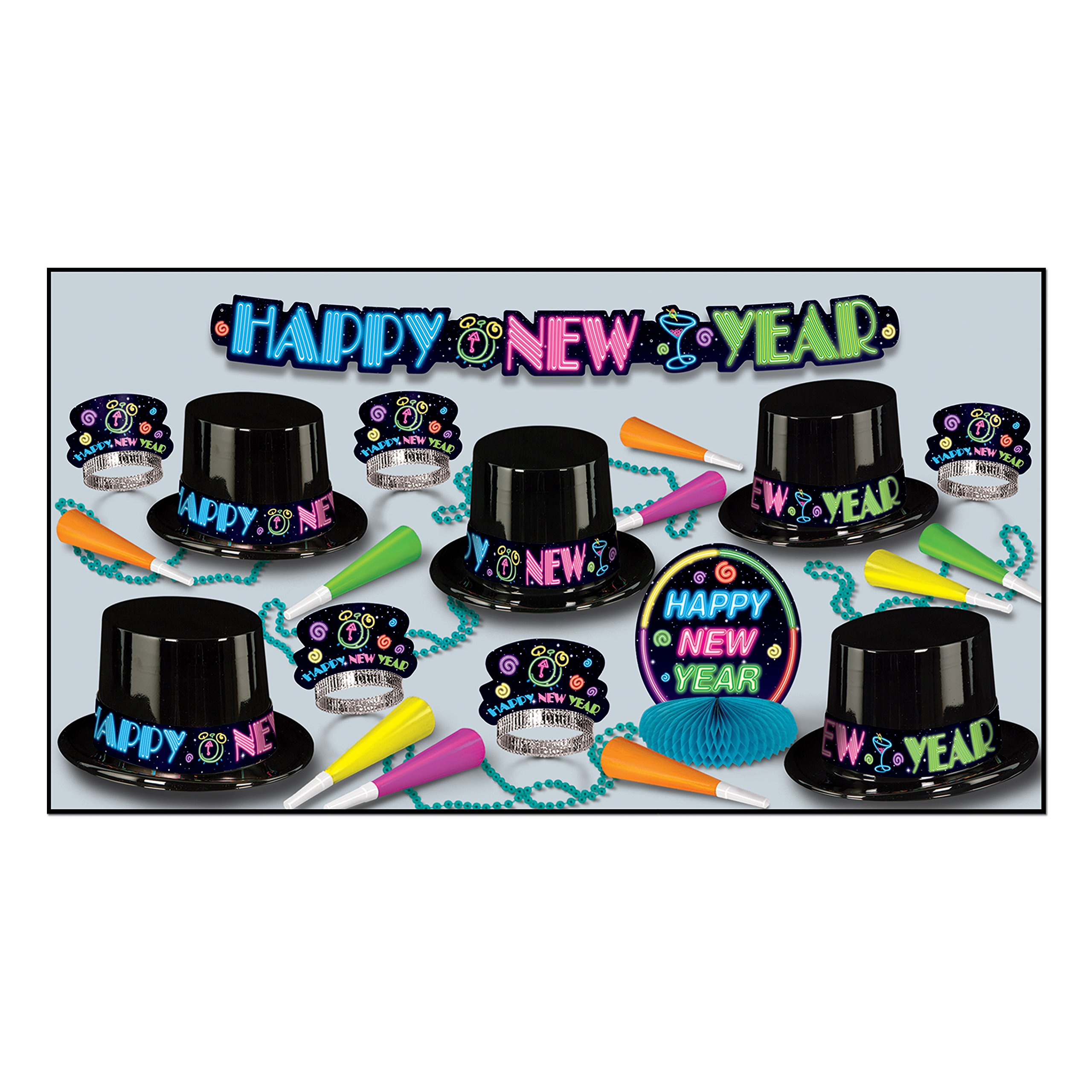Neon Party Asst for 10 (NO RETAIL PRICE ON CARTON) Party Accessory  (1 count)