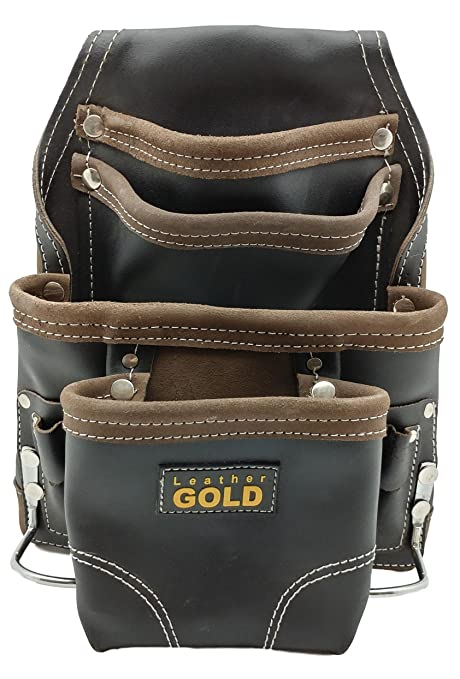 leather gold heavy duty tool pouch | carpenters tool pouch 3150 ...