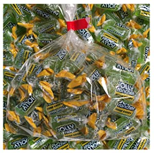 Individually wrapped Green Apple Jolly Rancher hard candy