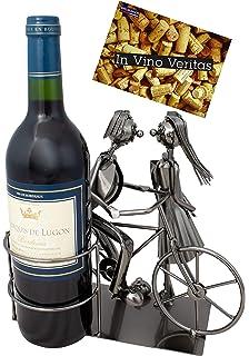 BRUBAKER Porta botella de vino pareja de novias - Decoraciónn ...