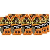 """Gorilla 6100101-12 Duct Tape to-Go, 1"""" x 10 yd, Black, (Pack of 12), 12-Pack, 12 Piece"""