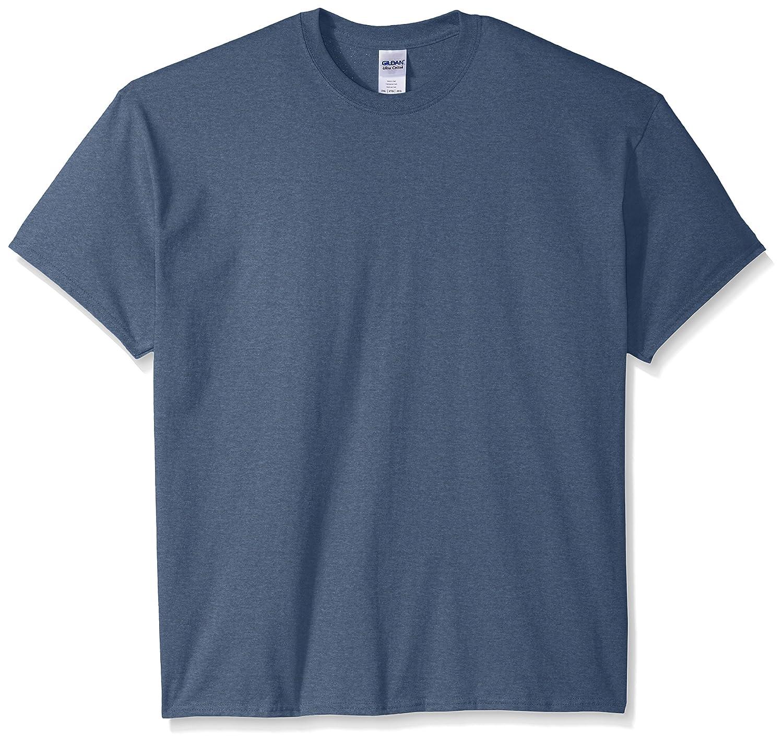 (ギルダン) Gildan メンズ ウルトラコットン クルーネック 半袖Tシャツ トップス 半袖カットソー 定番アイテム 男性用 B014WC8ZWG 6L|ヘザーインディゴ ヘザーインディゴ 6L