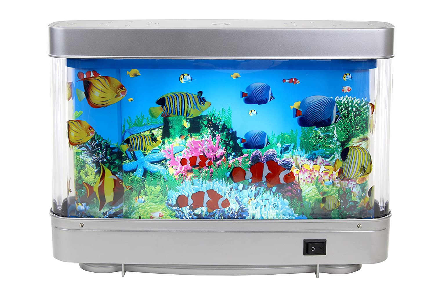 Fish tank night light - Amazon Com Lightahead Artificial Tropical Fish Aquarium Decorative Lamp With Multi Colored Artificial Fish And Ocean In Motion Pet Supplies