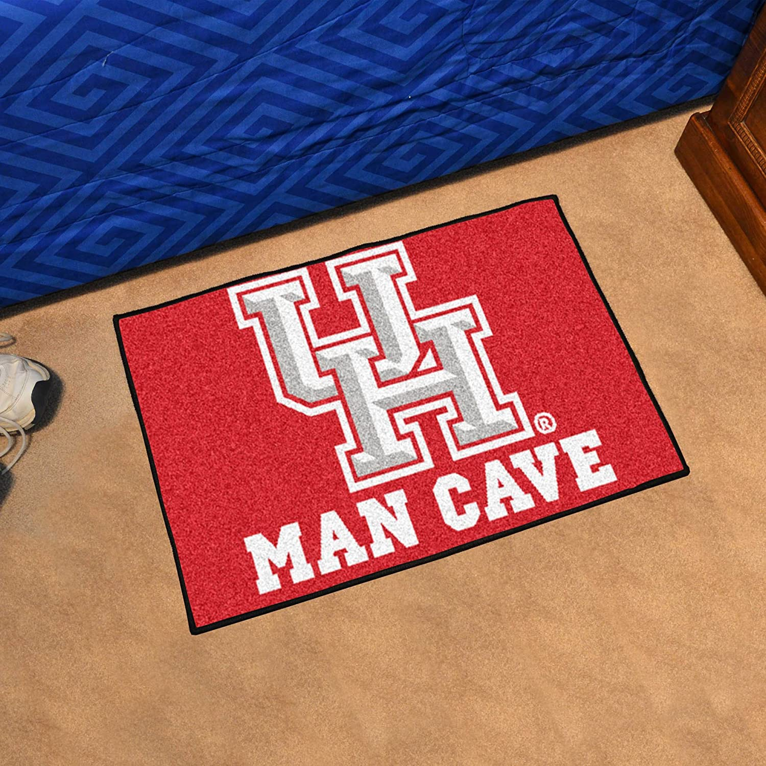 NCAA University of Houston Man Cave Starter Rug Small//19x30 Black