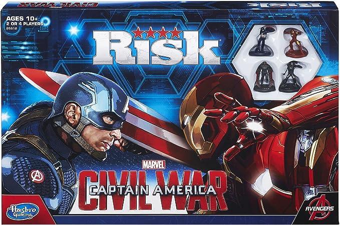 Hasbro Risk Captain America: Civil War Edition – Juego de mesa (idioma inglés): Amazon.es: Juguetes y juegos