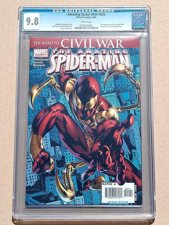 0b707ebe0e354 Amazon.com: AMAZING SPIDER-MAN #529 High Grade! CGC 9.8 Near Mint ...