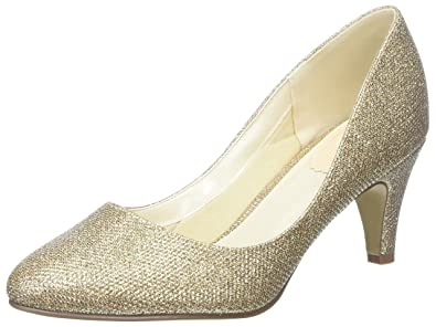 f0ddd69e676560 Paradox London Pink Women s s Affection Closed-Toe Heels Gold (Champagne) 7  ...