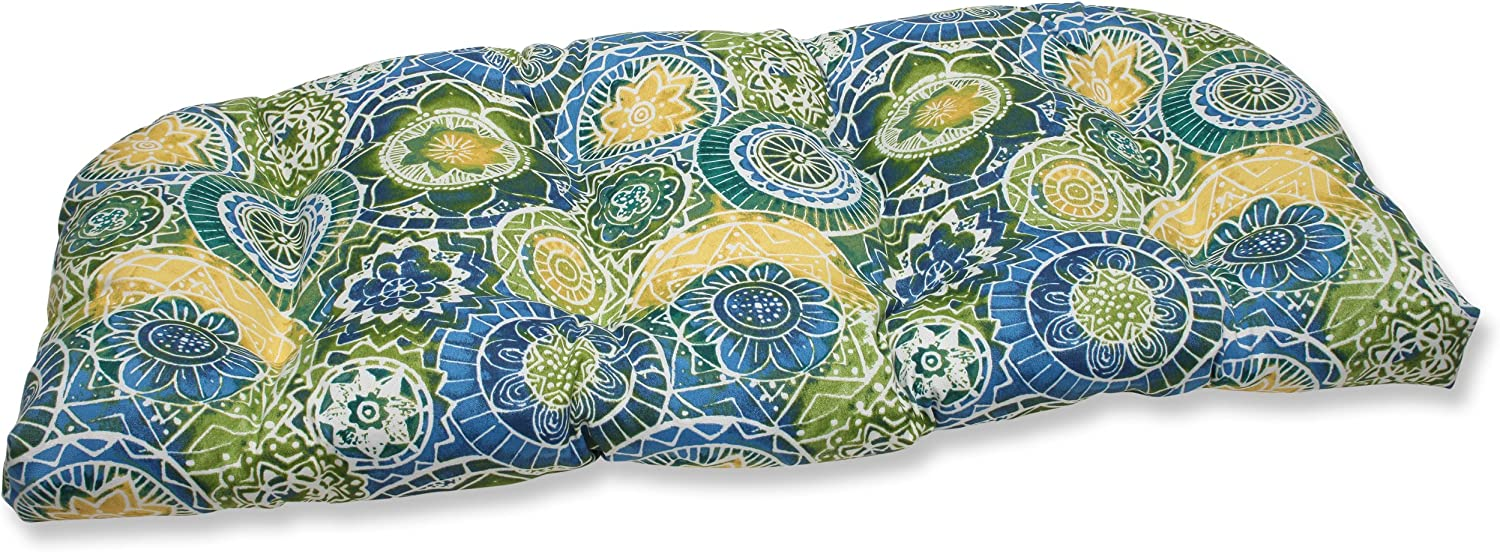 Pillow Perfect Outdoor Omnia Lagoon Wicker Loveseat Cushion