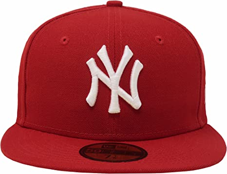 uk cheap sale new lifestyle best authentic New York Yankees New Era 59Fifty Hat MLB Basic Red Fitted Headwear ...