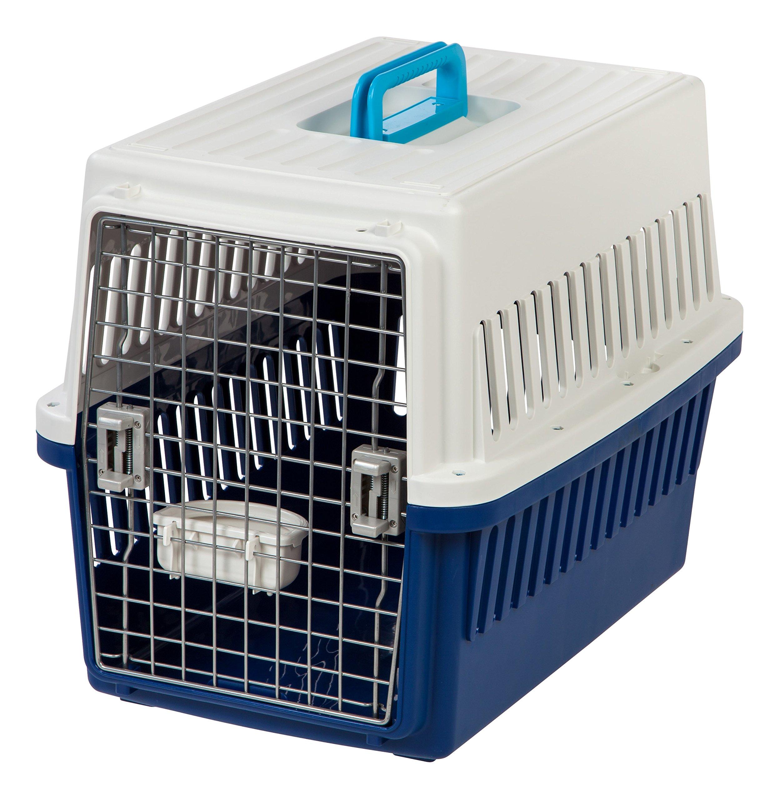IRIS Medium Pet Travel Carrier, 3 Pack, White/Navy
