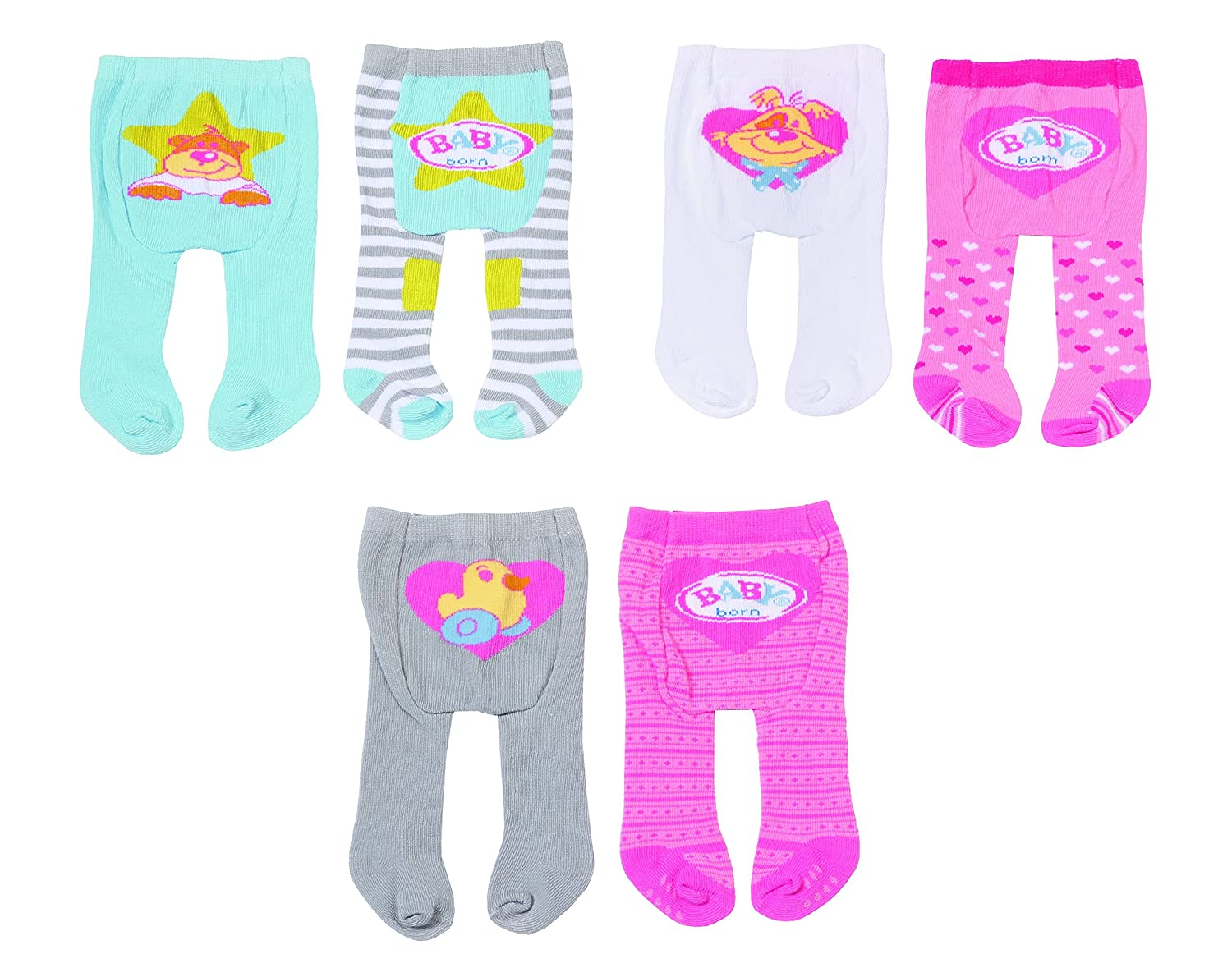 Amazon.es: Zapf Baby Born Tights 2 Pack Doll Tights ...