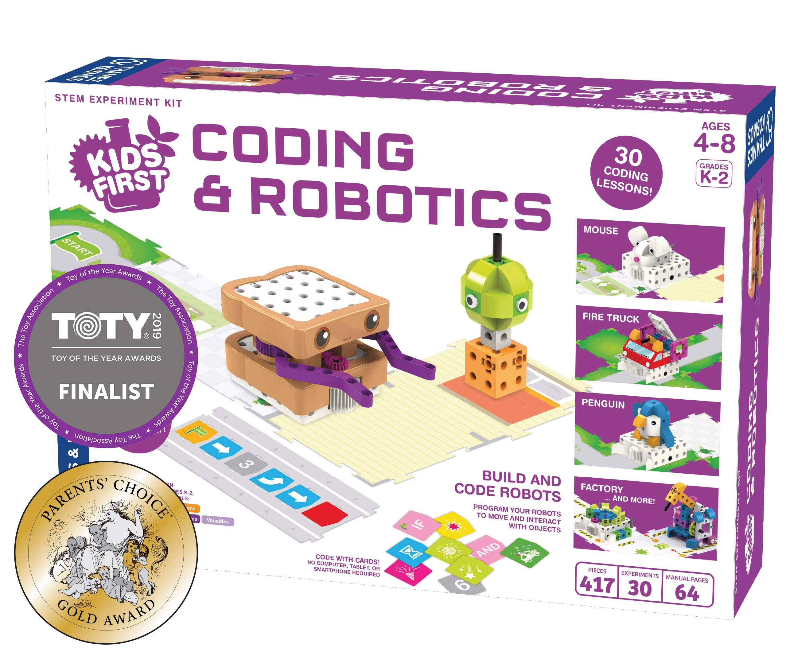 Thames & Kosmos Kids First Coding & Robotics | No App Needed | Grades K-2 | Intro to Sequences, Loops, Functions, Conditions, Events, Algorithms, Variables | Parents' Choice Gold Award Winner by Thames & Kosmos