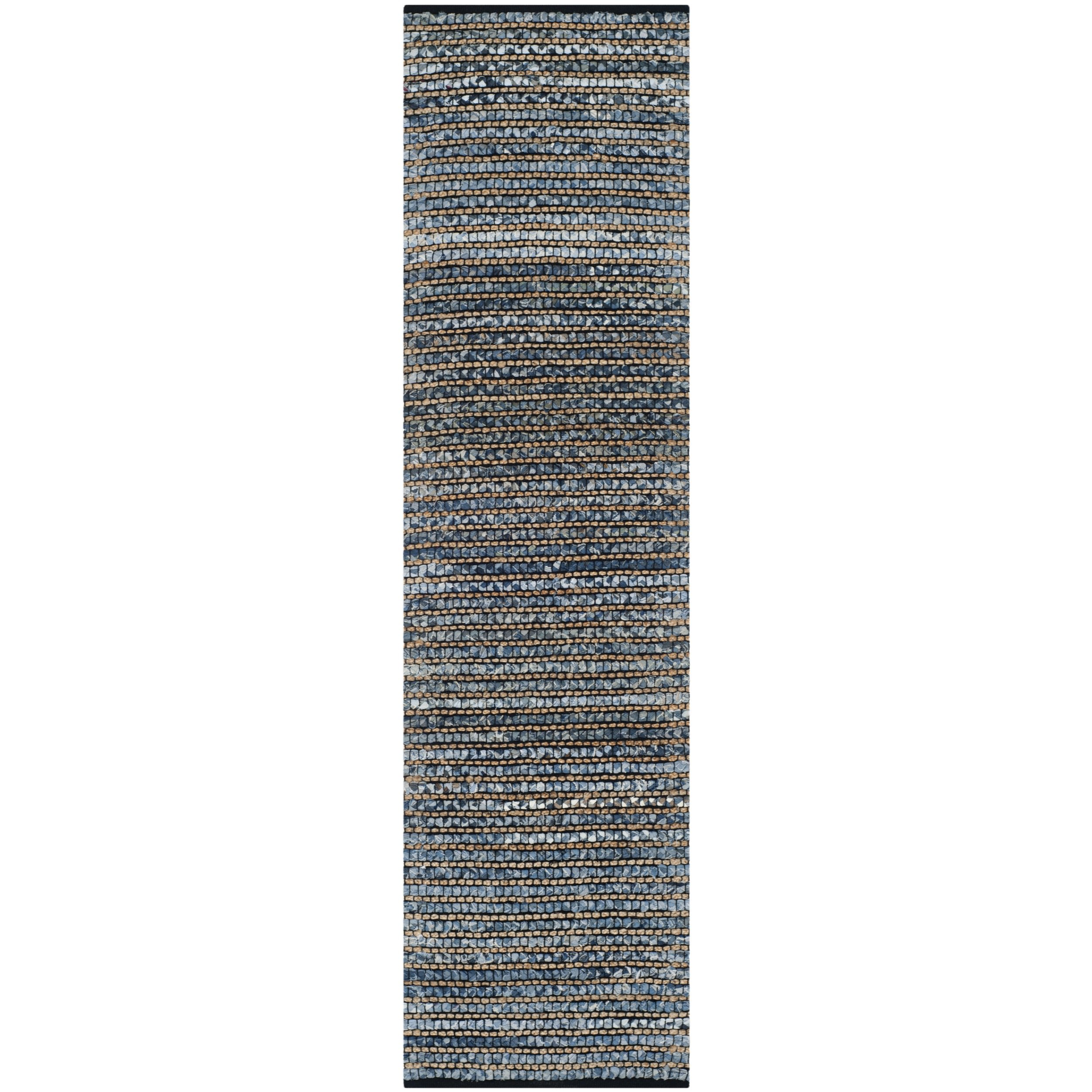Safavieh Cape Cod Collection CAP365A Hand Woven Blue Jute Runner (2'3'' x 6') by Safavieh (Image #3)