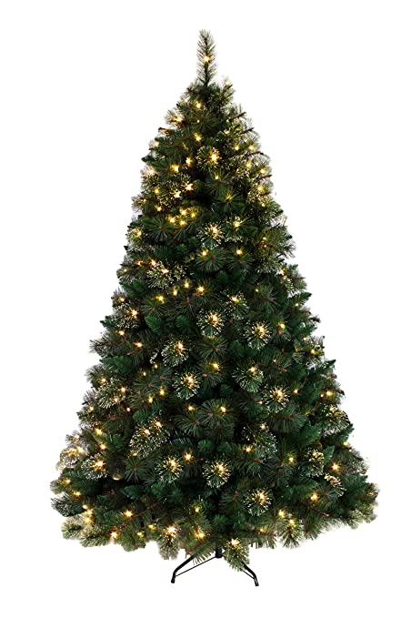 7ft artificial christmas tree pre lit real feel morning dew white pine artificial christmas tree 7ft amazoncom