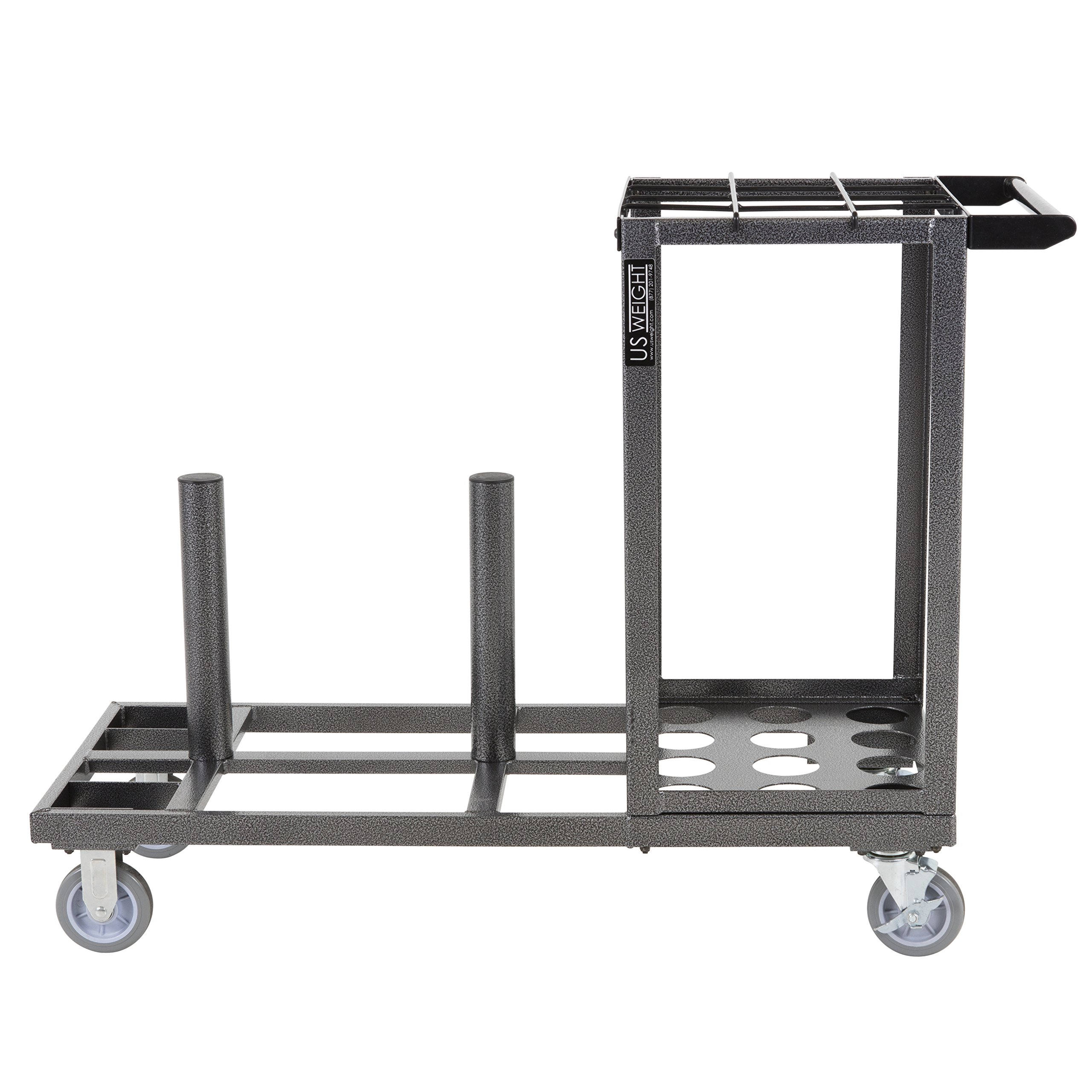 US Weight Statesman Stanchion Cart Kit – 12 Premium Black Steel Stanchions with Cart by US Weight (Image #21)