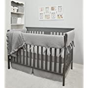 American Baby Company Heavenly Soft 6 Piece Crib Bedding Set, Grey, for Boys and Girls