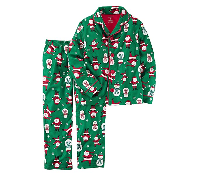 df22175055 carter s Boys  2T-8 2 Piece Christmas Cotton Fleece Pajamas 3T ...