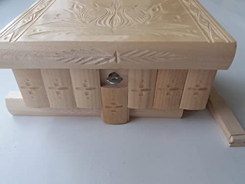 Nuevo gran caja puzzle de madera lacada natural rompecabezas, caja secreta, caja mágica, la caja de almacenaje de la joyería, caja de madera, caja tallada, regalo para la hija hermana: Amazon.es: Handmade