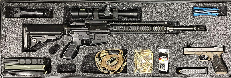GUNFORMZ Semi-Custom Gun Case Foam Insert for Pelican 1720 Gun Case (Foam ONLY - NO CASE) V2