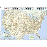 Amazoncom Map of United States USA Roads Highways Interstate