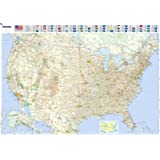 Michelin Map Usa Road 12761 P Rolled Maps Wall Michelin