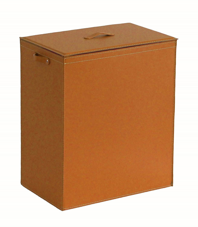 ピーター:ランドリーバスケットinレザーブラウン、取り外し可能な裏地、ストレージボックス、ランドリーバッグ、バスルーム洗濯服。 B01J4149L6