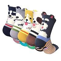 5 Pairs Womens Animal Socks Cute Funny Cotton Ladies Socks for Winter