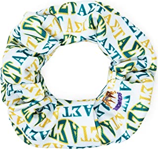 product image for Alpha Sigma Tau Sorority Scrunchies Officially Licensed Greek Letters Print Ponytail Holders Scrunchie King Made in the USA
