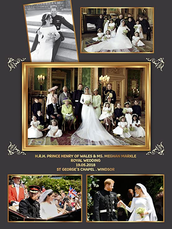 Prince Harry and Meghan Markle official royal wedding PHOTO 8x10 PICTURE 1