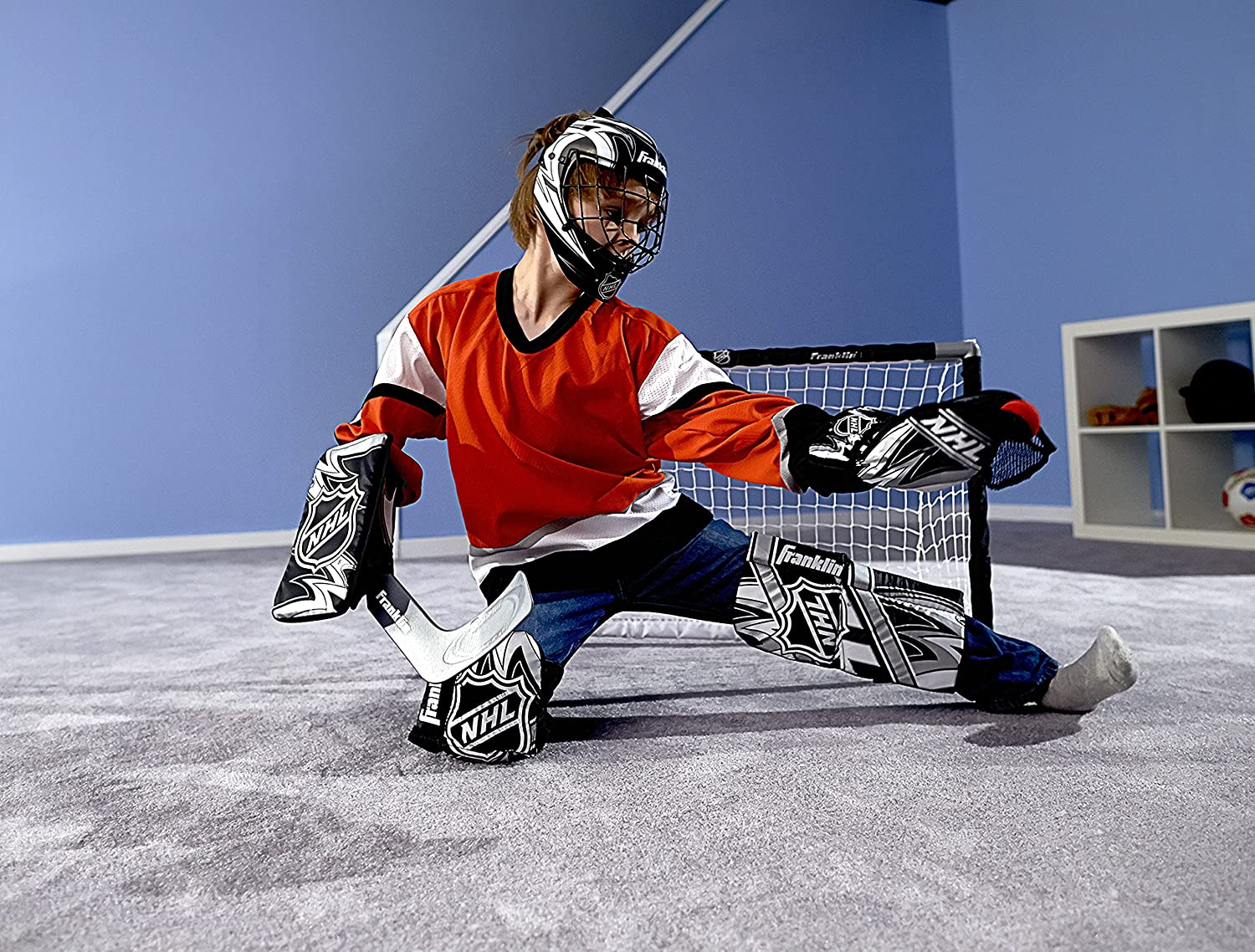 Amazon Com Franklin Sports 12436 Nhl Mini Hockey Goalie Equipment