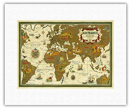 World Route Map - Air France - Nova Et Vetera (The Old and the New ...