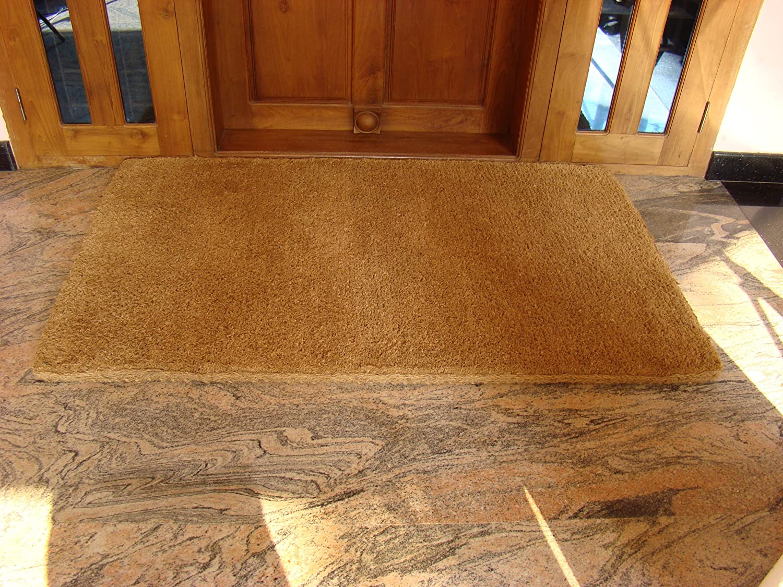 Doormat in Coconut Contoured Shaped Autumn Leaf-Size 60x40 cm.