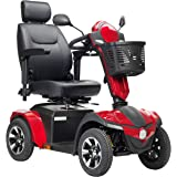 Drive Medical Panther Captain Seat 4 Wheel Heavy Duty Scooter, Red, 20 Inch
