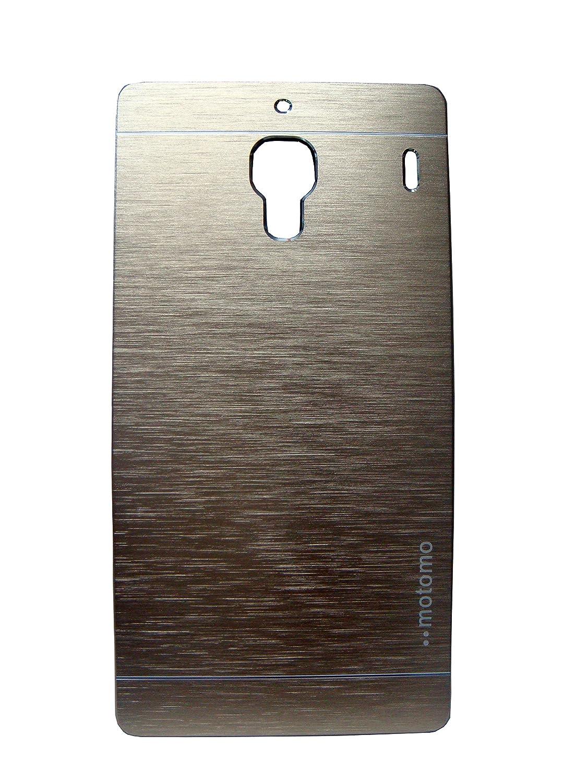 Macc Luxury Brushed Metal Motomo Back Case Cover For Xiaomi Redmi 1s Grey Champigne Gold Electronics
