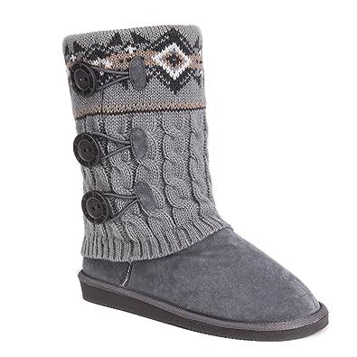 7cd089a6278bf5 MUK LUKS Women s Cheryl Boots-Grey Fashion