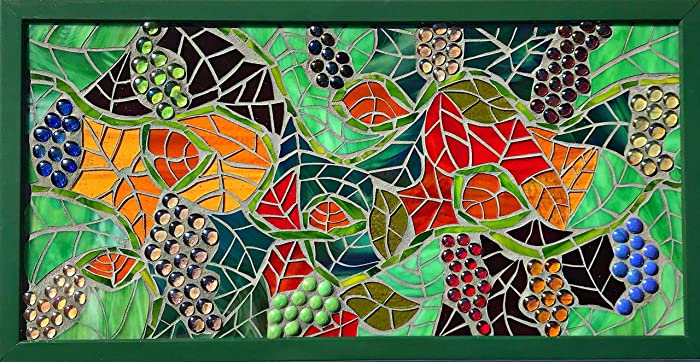 Amazon.com: Stained Glass Mosaic Wall Art/Table Centerpiece ...
