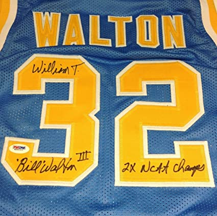 ab84e27b4 Image Unavailable. Image not available for. Color   William  Bill Walton  Signed UCLA ...